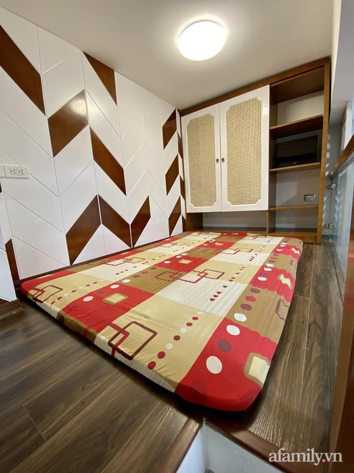 Căn hộ 85m² màu gỗ ấm cúng kết hợp khéo léo phong cách hiện đại và hoài cổ của con trai mua cho bố mẹ ở Hà Nội-19