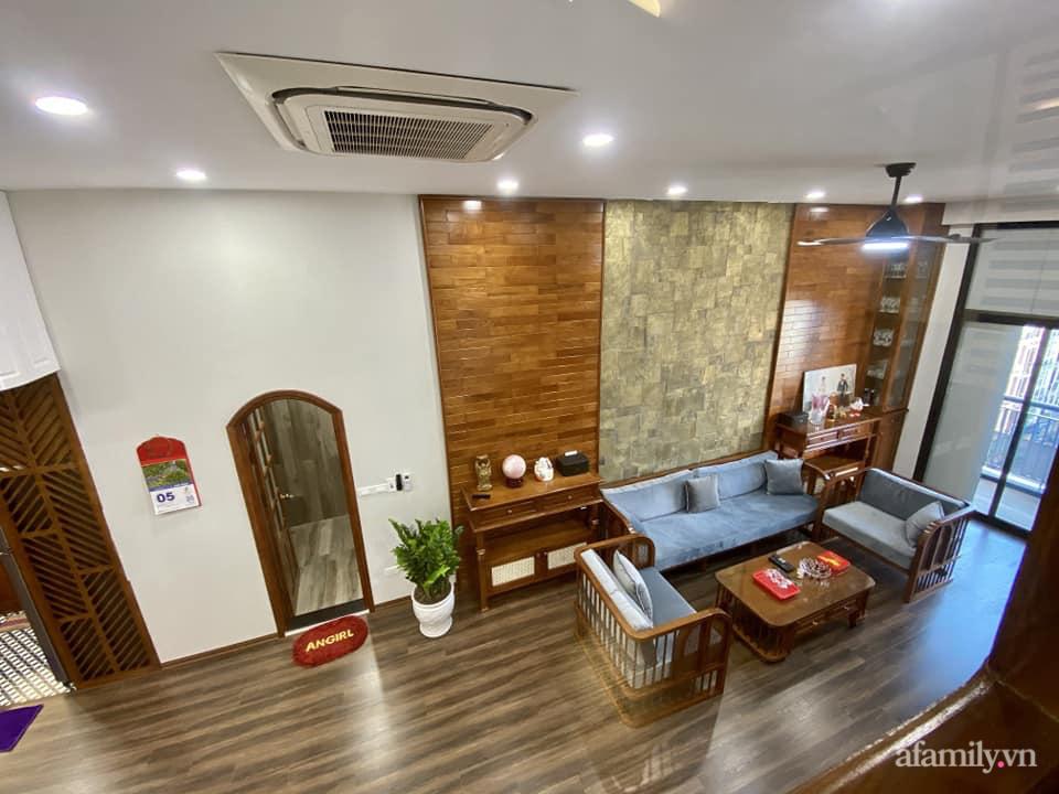 Căn hộ 85m² màu gỗ ấm cúng kết hợp khéo léo phong cách hiện đại và hoài cổ của con trai mua cho bố mẹ ở Hà Nội-7