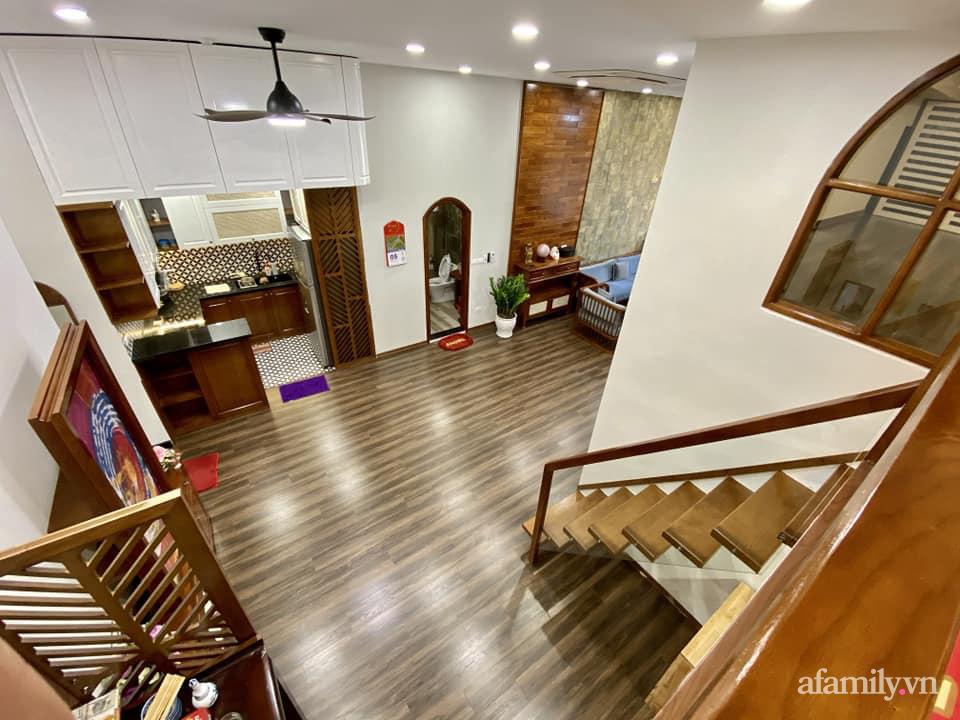 Căn hộ 85m² màu gỗ ấm cúng kết hợp khéo léo phong cách hiện đại và hoài cổ của con trai mua cho bố mẹ ở Hà Nội-8