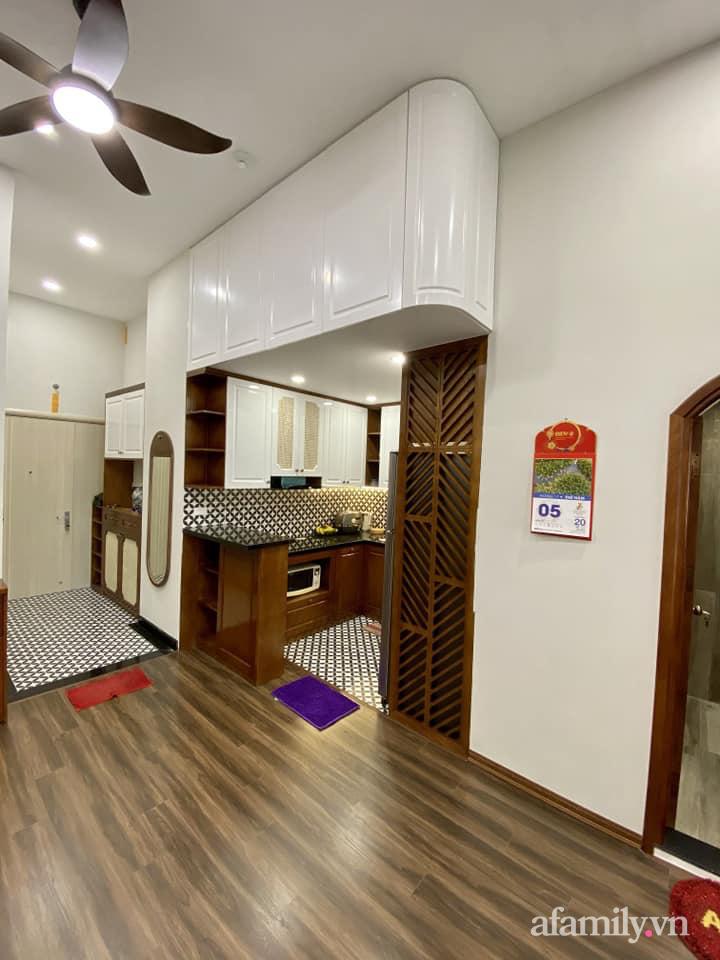 Căn hộ 85m² màu gỗ ấm cúng kết hợp khéo léo phong cách hiện đại và hoài cổ của con trai mua cho bố mẹ ở Hà Nội-11