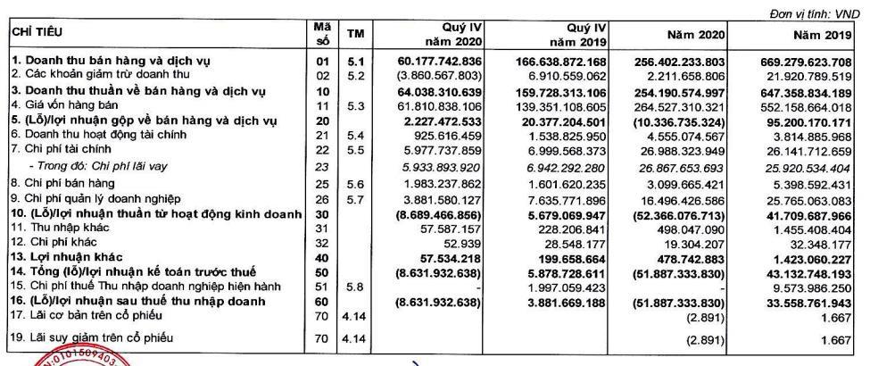 Đại dịch Covid 19 khiến Suất ăn Hàng không Nội Bài (NCS) lỗ 52 tỷ đồng trong năm 2020-2