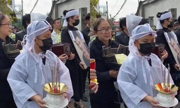 Lễ an táng ca sĩ Vân Quang Long tại Đồng Tháp: Linh Lan bật khóc cùng con gái xuất hiện ở lễ tang-8