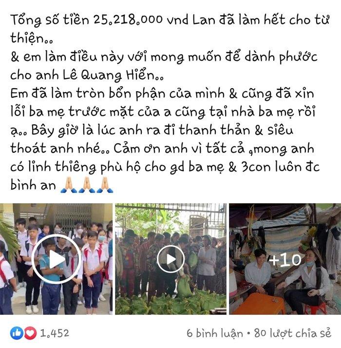 Vợ hai Vân Quang Long công khai tiền phúng viếng, khẳng định: Em đã làm tròn bổn phận-2