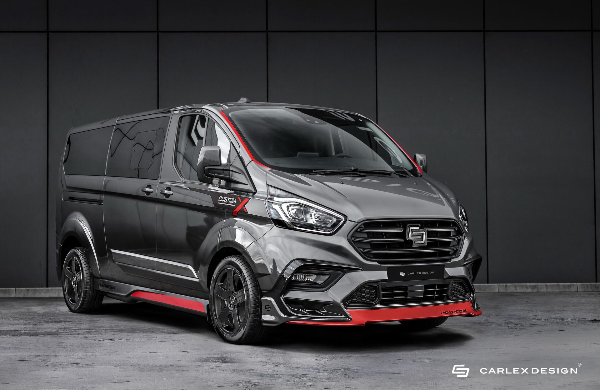 Xe MPV Ford Transit Custom được lột xác bởi hãng độ Carlex Design