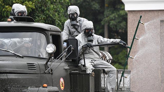 Khử khuẩn toàn bộ khu cách ly ở Chí Linh