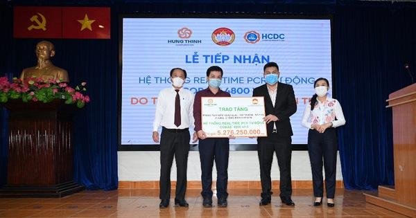 Tập đoàn Hưng Thịnh trao tặng hệ thống máy xét nghiệm tự động trị giá gần 5,3 tỷ đồng cho Trung tâm Kiểm soát bệnh tật TP.HCM