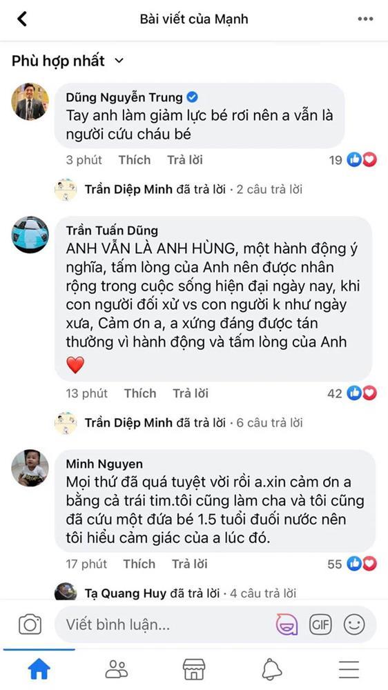 Một clip góc khác cho thấy Nguyễn Ngọc Mạnh đã vất vả và nỗ lực đến thế nào khi cố gắng cứu em bé-2