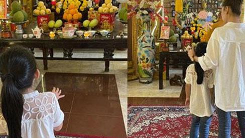 Con gái cố diễn viên Mai Phương đến thắp hương vào ngày giỗ đầu của mẹ