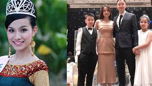 Hoa hậu Hoàn vũ Việt Nam đầu tiên, lấy chồng tiến sĩ giờ ra sao?