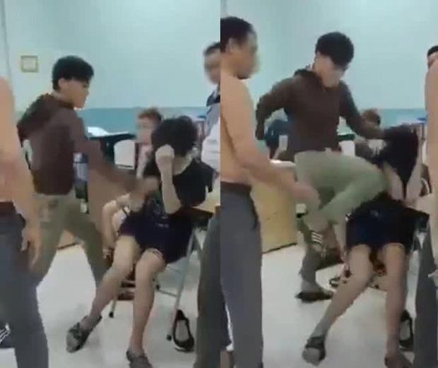 TP.HCM: Công an vào cuộc điều tra vụ bảo vệ dân phố đánh đạp dã man 2 thiếu niên trong trường học-1