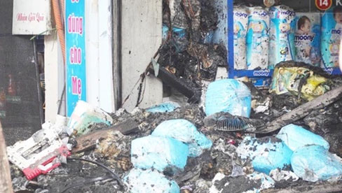 Xác định nguyên nhân vụ cháy cửa hàng bán bỉm khiến 4 người tử vong trên đường Tôn Đức Thắng