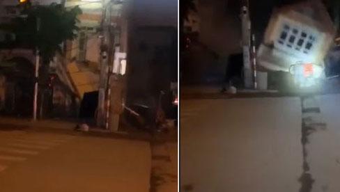 Clip: Kinh hoàng khoảnh khắc ngôi nhà 3 tầng đổ sập trong đêm ở Lào Cai