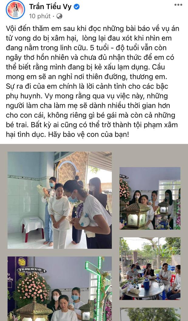 Đỗ Mỹ Linh, Tiểu Vy xót xa đến viếng bé gái 5 tuổi bị sát hại, hiếp dâm, Phương Anh tức giận gửi lời đến kẻ xấu-5