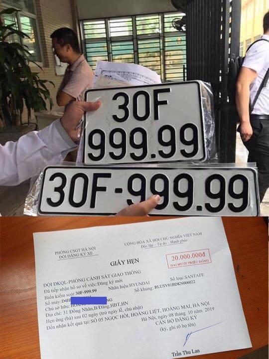 Trúng biển ngũ quý 9, xe Santa Fe đội giá gần 4 tỷ tại Hà Nội-4
