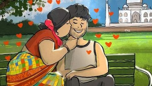 Bức phác họa hình ảnh vợ hô hấp cho chồng mắc Covid-19 gây xúc động