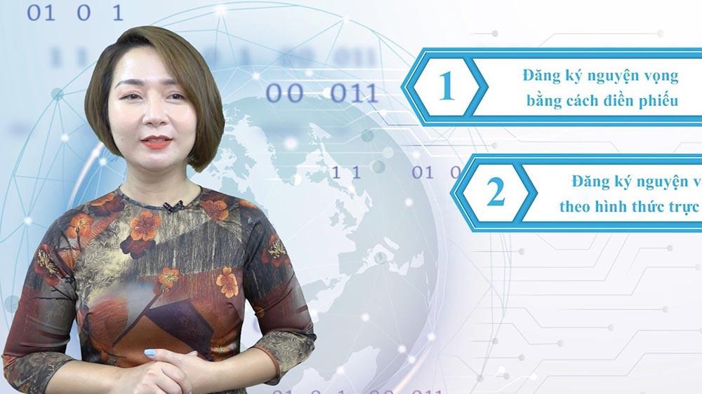 Bộ GD&ĐT hướng dẫn đăng ký xét tuyển trực tuyến