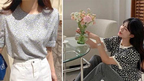 10 cách diện áo hoa cực xinh yêu từ gái Hàn, áp dụng theo thì style chỉ có chuẩn sang xịn