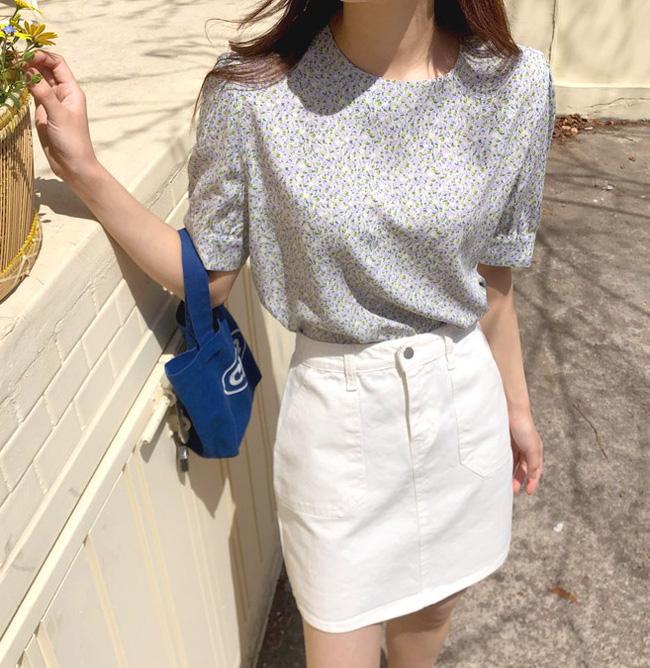 10 cách diện áo hoa cực xinh yêu từ gái Hàn, áp dụng theo thì style chỉ có chuẩn sang xịn-5