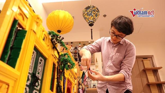 Chàng trai dùng 2 triệu miếng lego tái hiện đình, chùa Việt Nam y như thật