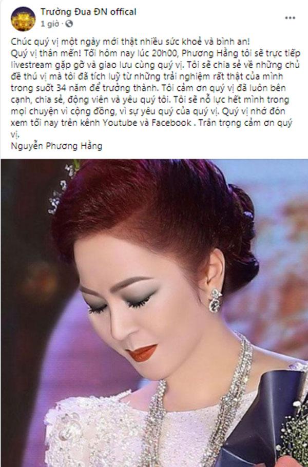 Muốn biết thâm cung bí sử bà Phương Hằng, đừng bỏ qua livestream tối nay!-1