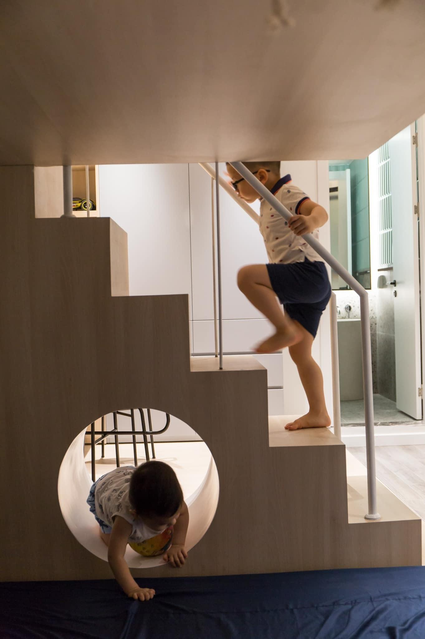 Thích mê ly căn hộ 'smarthome' 210m2 của gia đình nhiều trẻ con-14