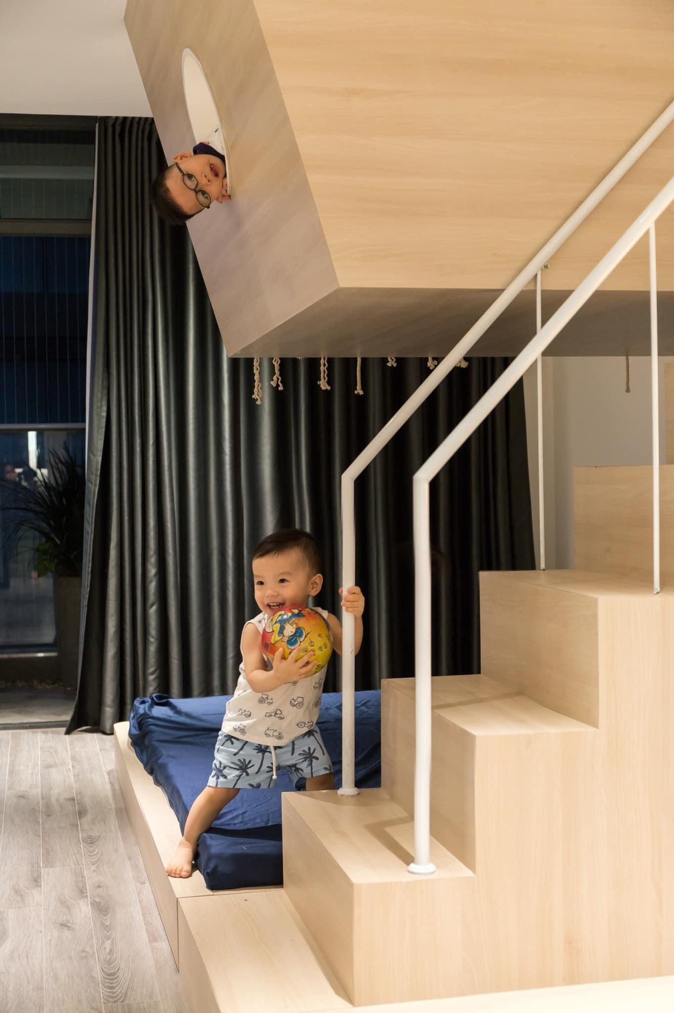 Thích mê ly căn hộ 'smarthome' 210m2 của gia đình nhiều trẻ con-13