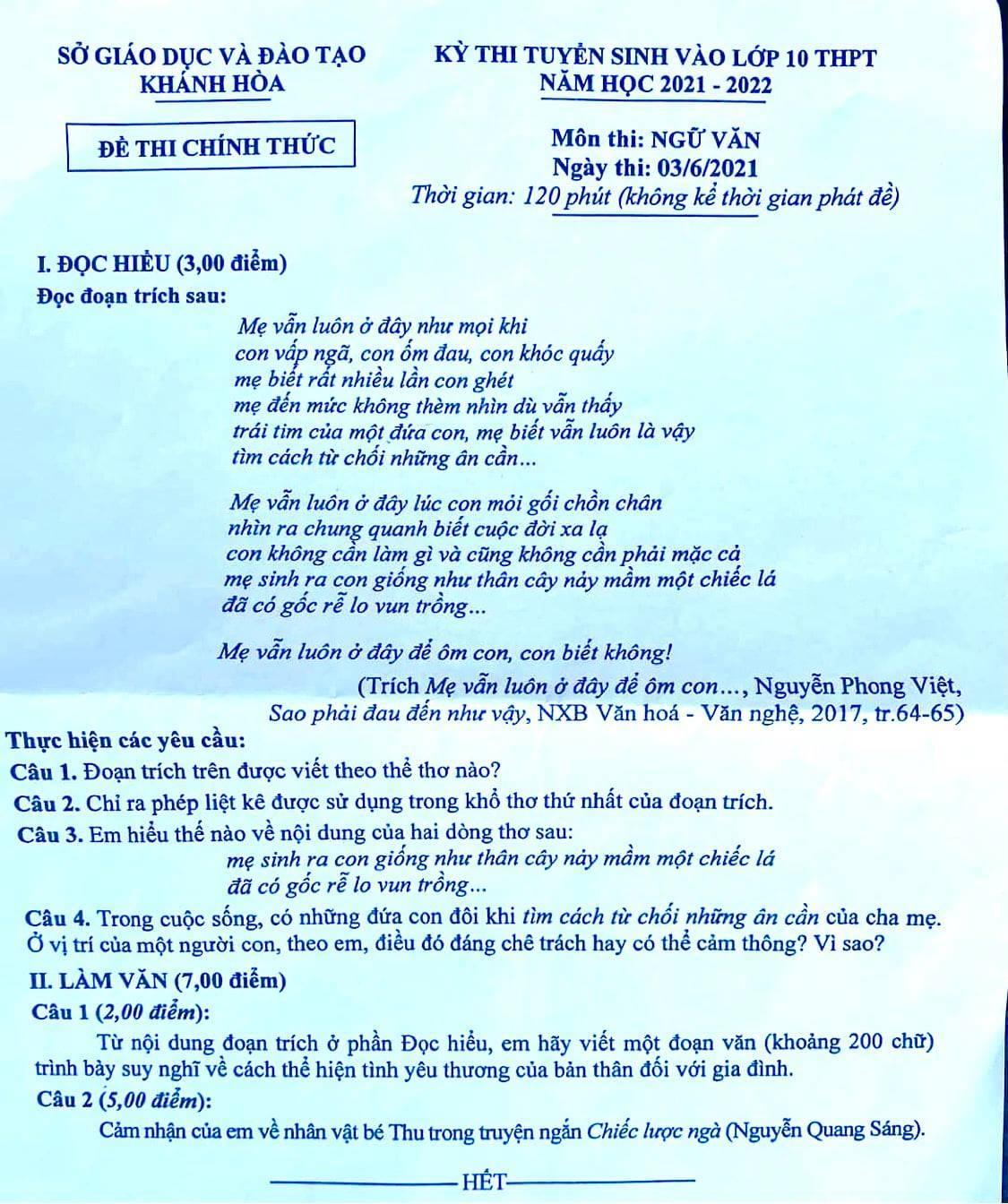 Nhà thơ xuất hiện trong đề thi lớp 10: Tôi mừng vì đề không theo khuôn mẫu-1