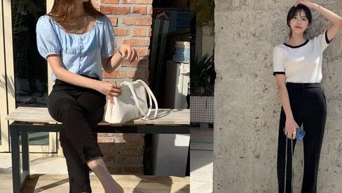 Gái Hàn chuyên diện quần đen đơn giản nhưng luôn đạt điểm 10 sành điệu nhờ loạt cách mix