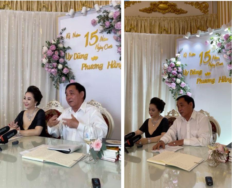 Bà Phương Hằng trang điểm như cô dâu, thiết kế quanh nhà như tiệc cưới bằng hoa tươi để kỷ niệm 15 năm ngày cưới-1