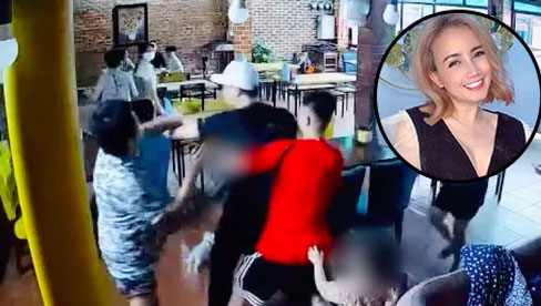 Rùng mình clip cận cảnh chồng thứ 4 mang dao phi thẳng vào quán truy sát Cô Xuyến (Về Nhà Đi Con) sau cú đấm gây sốc