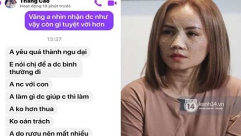 """""""Cô Xuyến"""" Hoàng Yến tung loạt tin nhắn thái độ khác 180 độ của chồng cũ thứ 4, hoá ra liên quan đến vụ ngoại tình 3 lần?"""