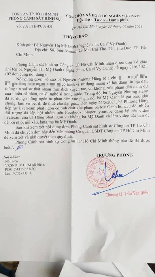 Vy Oanh khởi kiện bà Nguyễn Phương Hằng: Cô đã vượt quá giới hạn lòng bao dung của tôi!-2