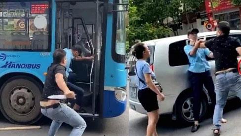Hà Nội: Xác minh vụ việc người đàn ông dùng dao đe doạ phụ xe buýt giữa phố