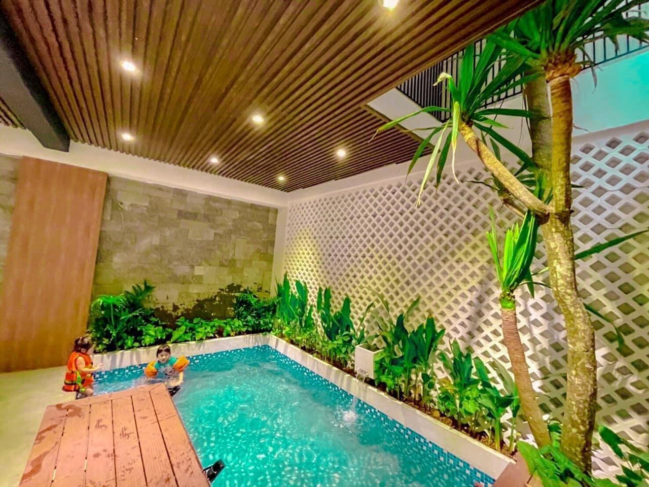 Nhà diện tích 50m2 vẫn có hồ bơi, vườn gác mái nhờ thiết kế tài tình-3