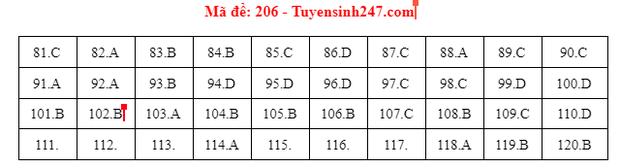 Đề thi và đáp án đề thi môn Sinh tốt nghiệp THPT 2021 tất cả các mã đề-5