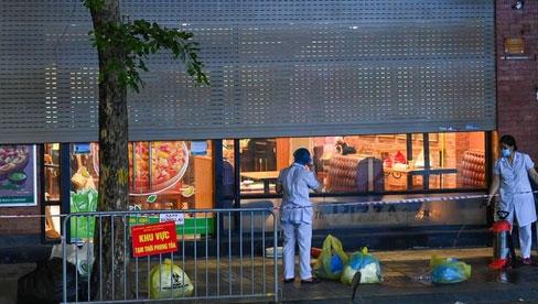 Hà Nội phong toả tạm thời quán pizza, truy vết 27 F1, 30 F2 tại 4 quận liên quan shipper dương tính SARS-CoV-2
