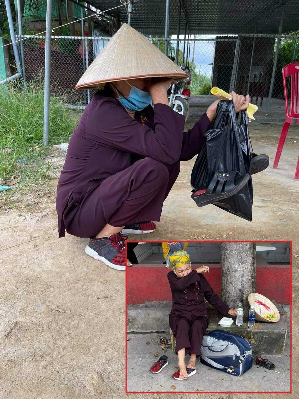 Cụ bà đi bộ từ Sài Gòn về Nghệ An bật khóc khi được MTQ hỗ trợ-2