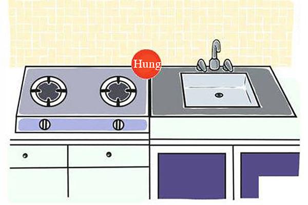 Những sai lầm thường gặp về phong thuỷ khi đặt bếp-2