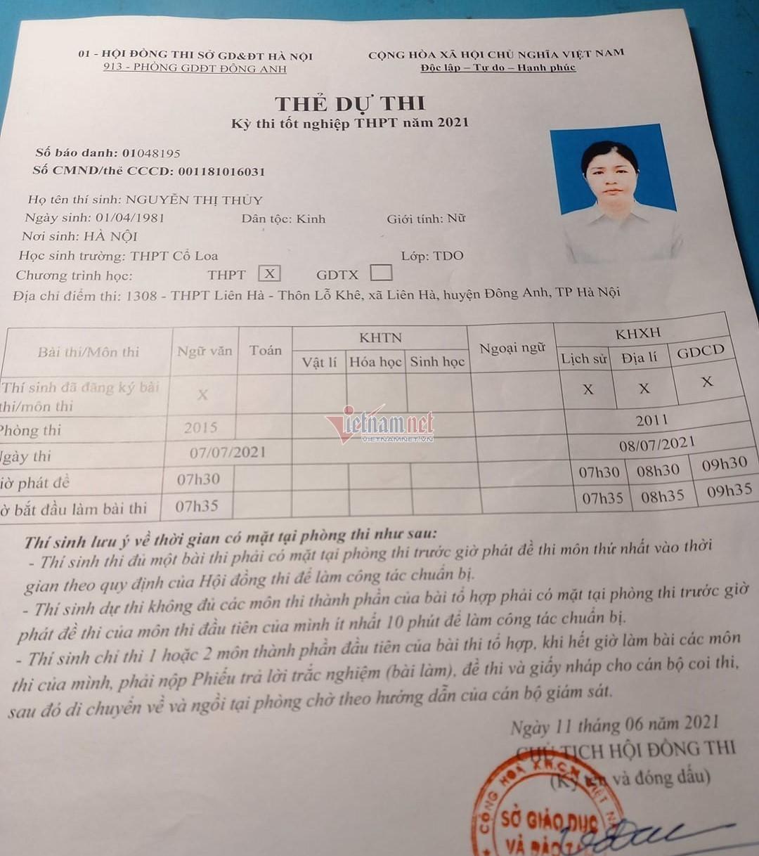 Người phụ nữ 40 tuổi đạt 27 điểm bài thi tổ hợp KHXH-2