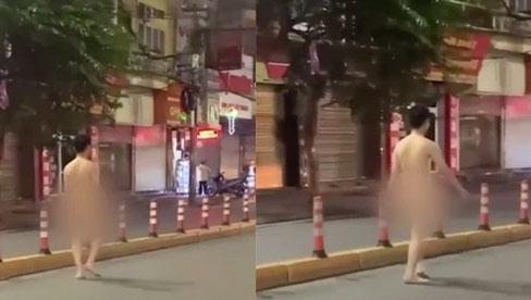 Xôn xao hình ảnh nam thanh niên khỏa thân thản nhiên đi bộ trên đường phố Hải Phòng