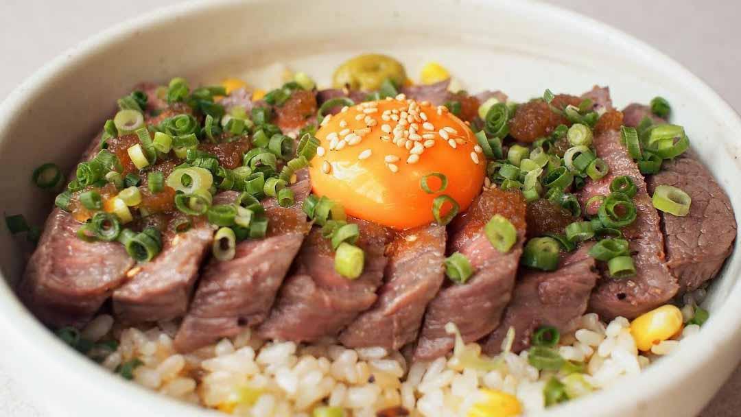 Tô cơm thịt bò chuẩn vị Nhật