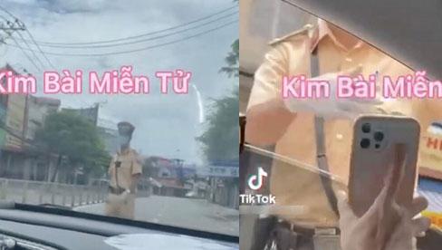 Cô gái lái ô tô qua chốt kiểm soát dịch rồi đăng clip lên MXH khoe