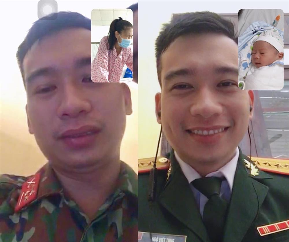 Chiến sĩ bộ đội rơi nước mắt khi gọi điện với vợ sắp sinh-1