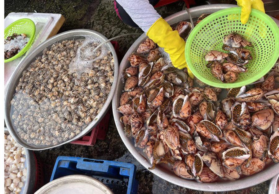 Hải sản giảm giá một nửa, thịt gà 6.000 đồng/kg vẫn ế ẩm-1