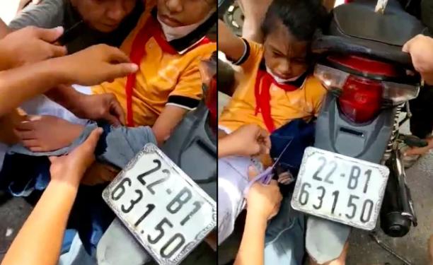 Căng thẳng theo dõi người dân giải cứu bé gái bị cuốn vào bánh xe máy, tất cả vì áo chống nắng-1