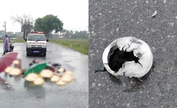 Hà Nội: Đôi nam nữ đi xe máy nghi bị sét đánh tử vong trên đường-1