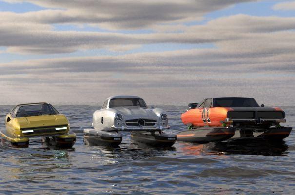 Khi những chiếc ô tô cổ điển cải biến thành thuyền-1