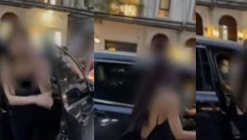 """Vụ đánh ghen tại Hà Nội part 2: Vợ điên cuồng yêu cầu bảo vệ buông tay, cô bồ sexy bước xuống xe với vẻ mặt """"hết nói"""""""