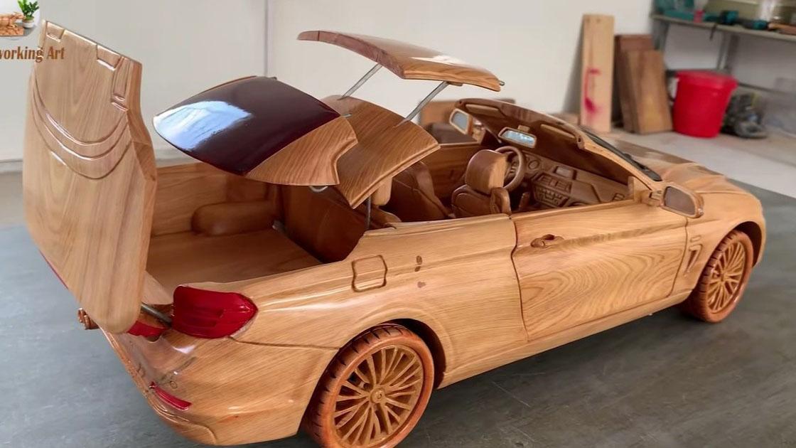 Ô tô gỗ của thợ Việt xuất ngoại với giá hàng chục triệu đồng
