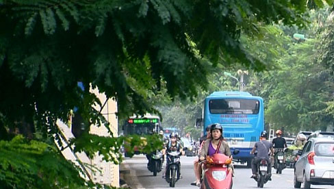 5 khu vực chất lượng không khí ở mức xấu, cao nhất là Cầu Giấy, Hàng Đậu, Thành Công, Mỹ Đình và Phạm Văn Đồng